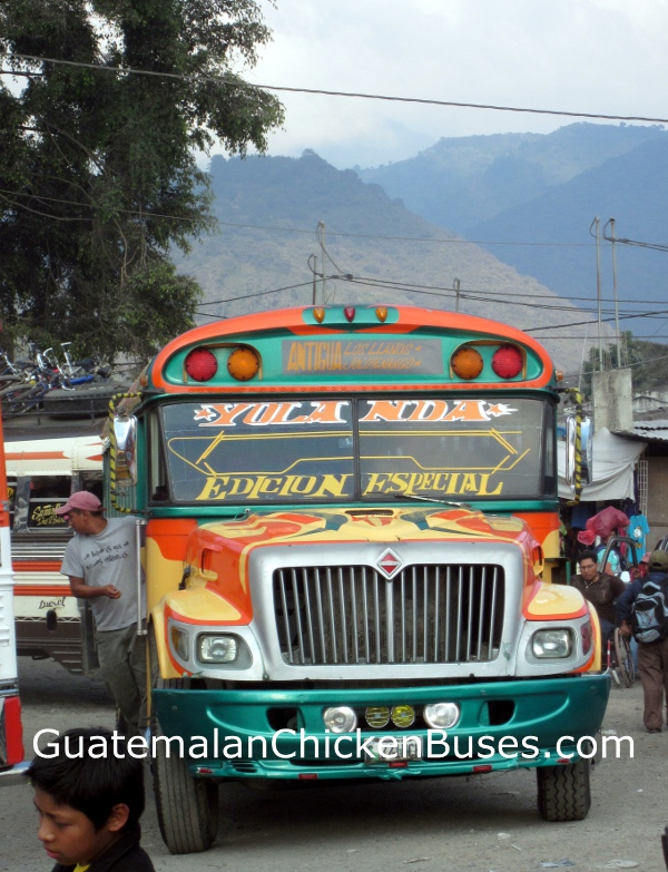 photograph of chicken bus